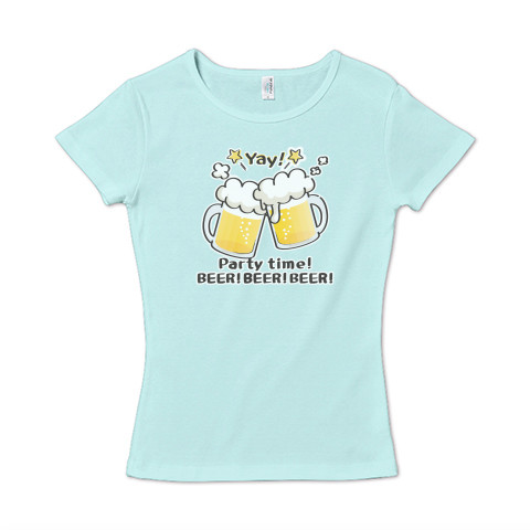 CT125 BEER!BEER!BEER!*ブレンド ビール 生ビール アルコール ジョッキ イラスト Tシャツ 半袖 レディース Tシャツトリニティ リンク