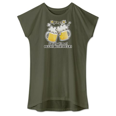 CT125 BEER!BEER!BEER!*ブレンド ビール 生ビール アルコール ジョッキ イラスト Tシャツ 半袖 ワンピース 重ね着 Tシャツトリニティ リンク