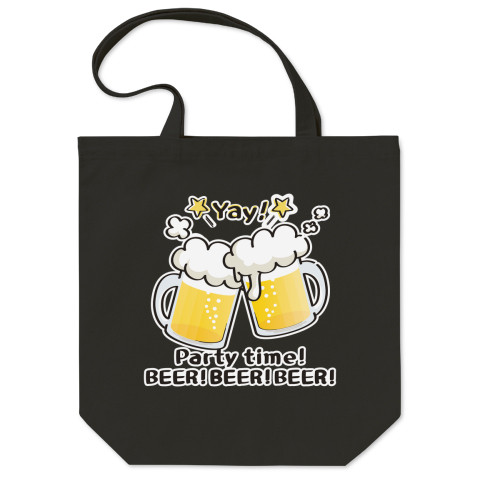 CT125 BEER!BEER!BEER!*ブレンド ビール 生ビール アルコール ジョッキ イラスト トートバッグ マイバッグ エコバッグ Tシャツトリニティ リンク