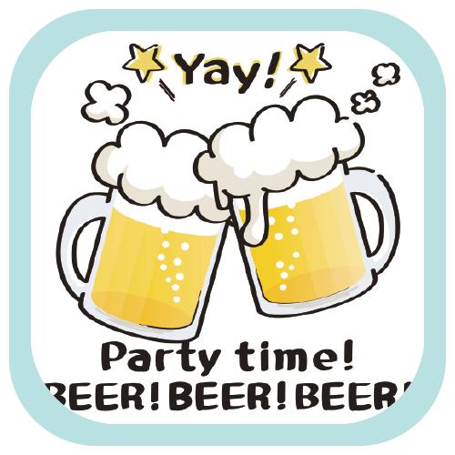 CT125 BEERBEERBEER  BEER beer 生ビール ビール アルコール 花見 宴会 BBQ SUZURI リンク