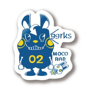 CT124 モコモコラビット2号*ggrks*Cbg うさぎ ロボット 2号 ggrks ステッカー SUZURI リンク