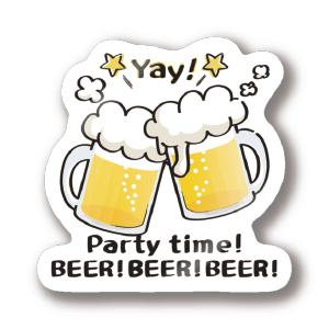 CT125 BEER!BEER!BEER!s beer BEER ビール アルコール 花見 宴会 ビアガーデン SUZURI リンク
