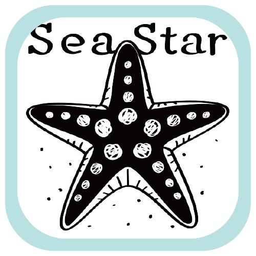 CT138 ひとで ひとでなし 海の星 海の生き物 両面印刷  オリジナル オリキャラ イラスト Tシャツ 半袖 Tシャツトリニティ リンク