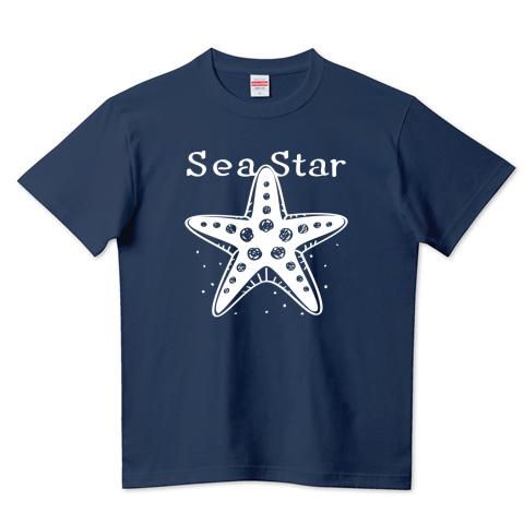 CT138 ひとでなし  ひとでなし ヒトデ 星 海の星 海の生き物 スター ユーモア ギャグ ネタ  イラスト Tシャツ 半袖 Tシャツトリニティ リンク