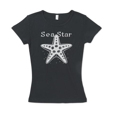 CT138 ひとでなし  ひとでなし ヒトデ 星 海の星 海の生き物 スター ユーモア ギャグ ネタ  イラスト Tシャツ 半袖レディース  Tシャツトリニティ リンク