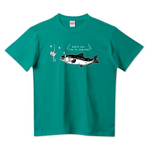 CT142 キングサーモンへB サーモン 魚 鮭 キングサーモン 釣り アップデート 注意 Tシャツ 半袖 Tシャツトリニティ リンク