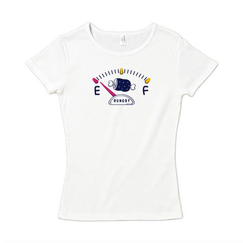 CT141 腹ペコゲージA 腹ペコ ハングリー お肉食べたい おごって ユーモア ネタ Tシャツ 半袖レディース  Tシャツトリニティ リンク