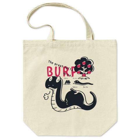 CT140 BURP ヘビ リンゴ 知恵の実 げっぷ 食べ過ぎ 世界征服 イラスト トートバッグ マイバッグ エコバッグ Tシャツトリニティ リンク