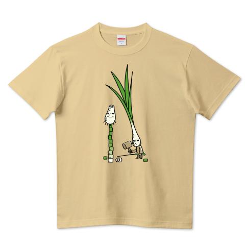 CT146 ワケギくんとコネギくん おもしろ 野菜 ネギ 分葱 ワケギ ダルマ落とし コネギ 小ねぎ Tシャツ 半袖 Tシャツトリニティ リンク