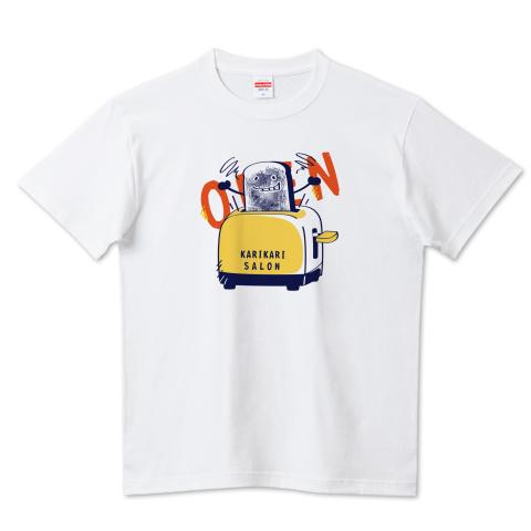 CT144 カリカリサロン*A かわいい パン 食パン open カリカリ トースター サロン 営業中 イラスト Tシャツ 半袖 Tシャツトリニティ リンク