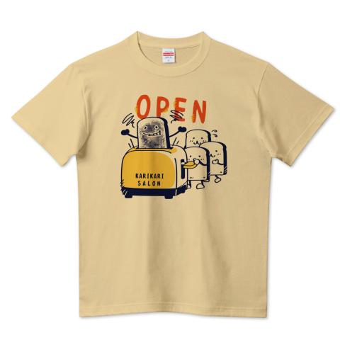 CT144 カリカリサロン*A かわいい パン 食パン open カリカリ トースター サロン 営業中 Tシャツ 半袖 Tシャツトリニティ リンク