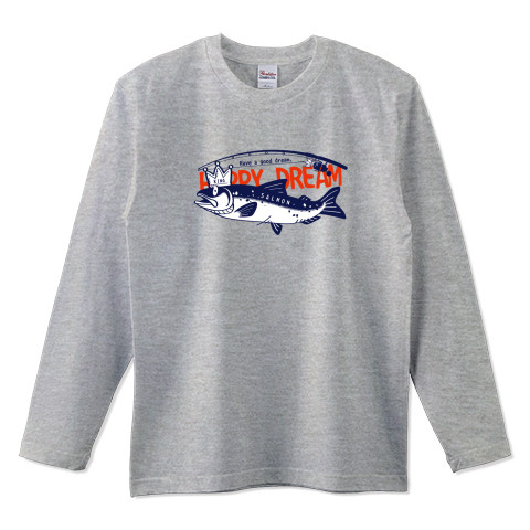 CT143 サモタンの夢 魚釣りサーモン キングサーモン バージョンアップ イラスト トートバッグ マイバッグ エコバッグ ショルダーバッグ Tシャツトリニティ リンク