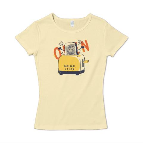 CT144 カリカリサロン*A かわいい パン 食パン open カリカリ トースター サロン 営業中  イラスト Tシャツ 半袖レディース Tシャツトリニティ リンク