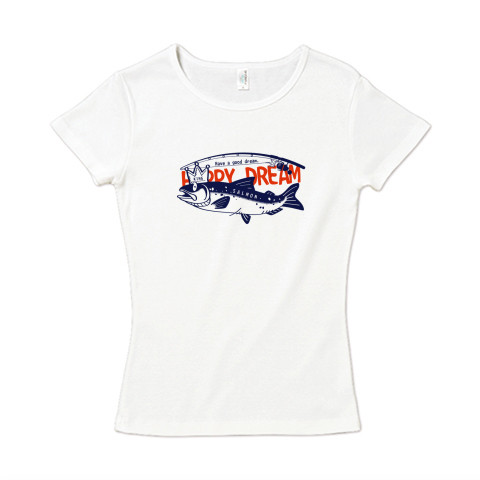 CT143 サモタンの夢 魚釣りサーモン キングサーモン バージョンアップ  Tシャツ 半袖レディース  Tシャツトリニティ リンク