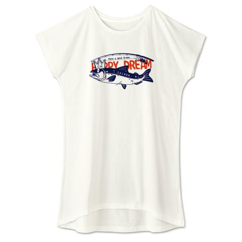 CT143 サモタンの夢 魚釣りサーモン キングサーモン バージョンアップ   Tシャツ 半袖 ワンピース 重ね着  Tシャツトリニティ リンク