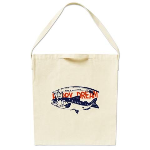 CT143 サモタンの夢 魚釣りサーモン キングサーモン バージョンアップ  トートバッグ マイバッグ エコバッグ ショルダーバッグ Tシャツトリニティ リンク