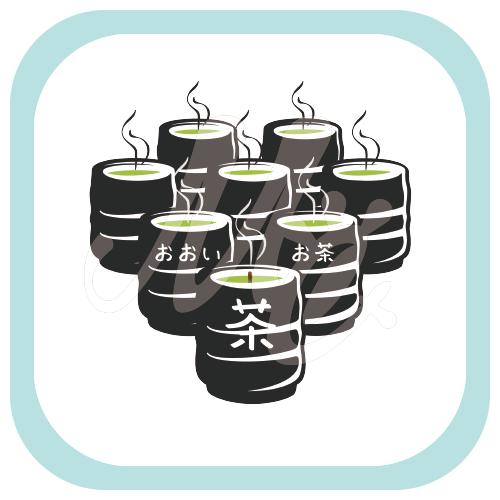 CT153 おおいお茶 お茶 緑茶 茶柱 多いお茶 多い 日本茶 オリジナル オリキャラ イラスト Tシャツ 半袖 Tシャツトリニティ リンク