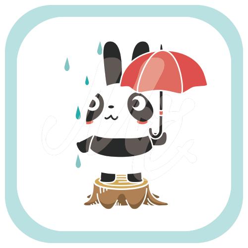 新品につきご遠慮ねがいます*傘*B ズレぱんだちゃん パンダ 傘 新品 雨 イラスト Tシャツ トリニティ リンク