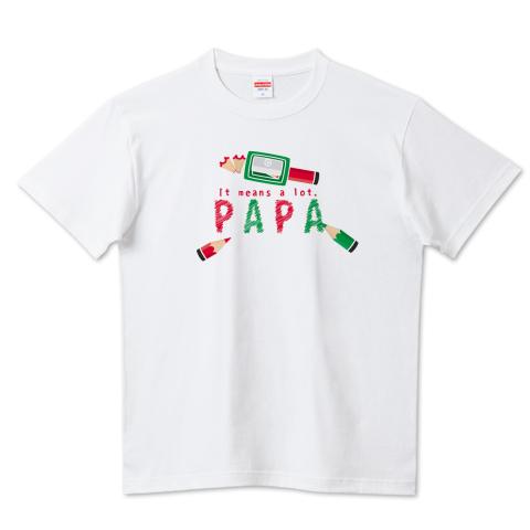 CT157 ちびた色鉛筆*B*PAPA お父さん カラフル ありがとう 色鉛筆 父の日 鉛筆 papa 文具 Tシャツ 半袖 Tシャツトリニティ リンク
