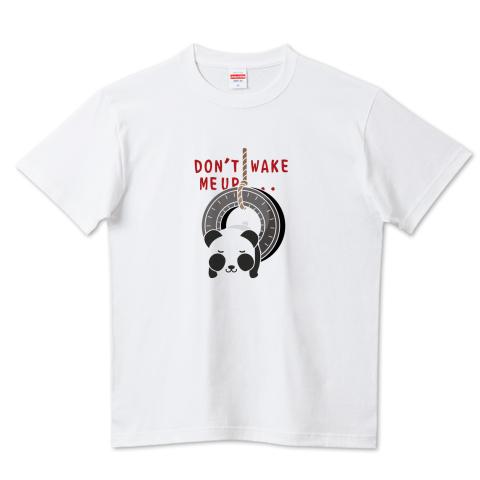 CT162 おこさないでねA*ズレぱんだちゃんのDON'T WAKE ME UP...  パンダ 動物 キャラクター 生き物 タイヤ 眠い起こさないで イラスト Tシャツ 半袖 Tシャツトリニティ リンク