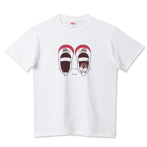 CT165 スズメがちゅん*うわばきA*ブレンド 鳥 キャラクター 学校 野鳥 スズメ 雀 上履き ちゅん ちゅん活 上履きの中 Tシャツ 半袖 Tシャツトリニティ リンク