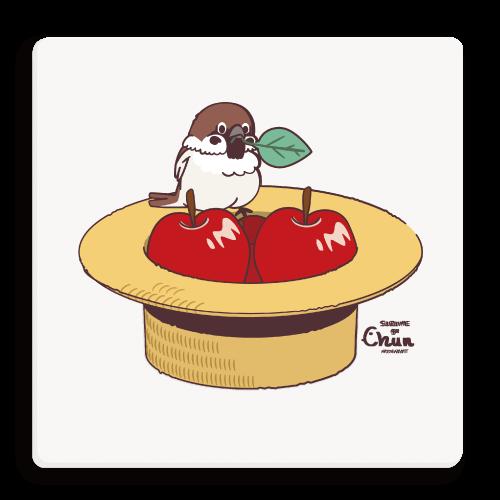 リンゴ スズメ 麦わら帽子 すずめ カンカン帽 ちゅん ちゅん活 スズメのちゅん あっぷるすとあ スズメの店員さん