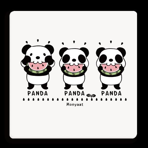 ズレちゃんとTWIN PANDAS パンダ 動物 キャラクター キャラ パンダTシャツ ズレぱんだ パンダキャラ 双子ちゃん ズレちゃん 双子パンダ