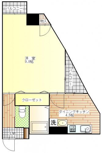 プレザント住吉 307号室 5.7 0.5 P1.5(4).JPG