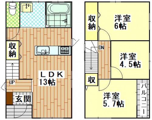 柳谷町新築戸建て(くさの書店)9.5万.JPG