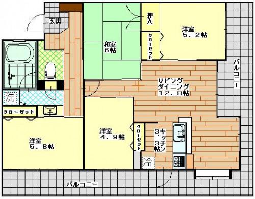 アーバンパレス寄合坂 1302号室 3100万円.JPG