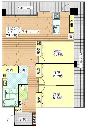 アドバンス21泉町コリンズ 503号室 13.8万円 敷金1 礼金2 2台目P 5000円 ペット可能.JPG
