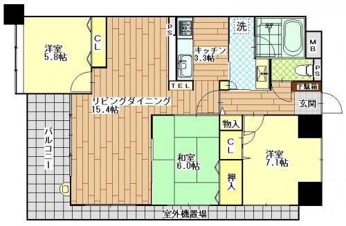 フォーレ長崎県庁坂 301号室(AH用).JPG