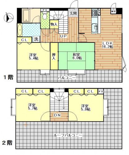 ダイアパレス住吉1001号室 4LDK 10.5万円.JPG
