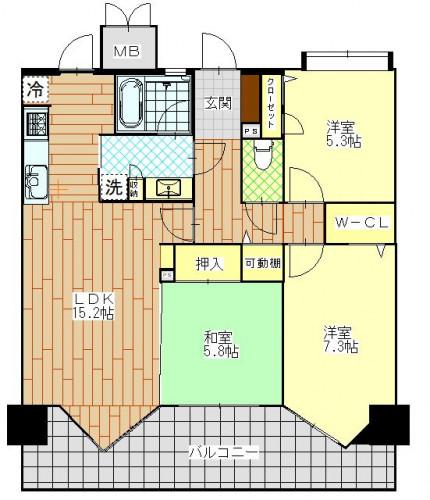 プレミアム長崎北ザパーク 202号室 2,150万円.JPG