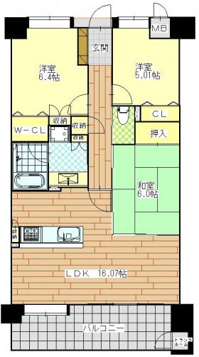 ネオプレイス葉山 702号室.JPG