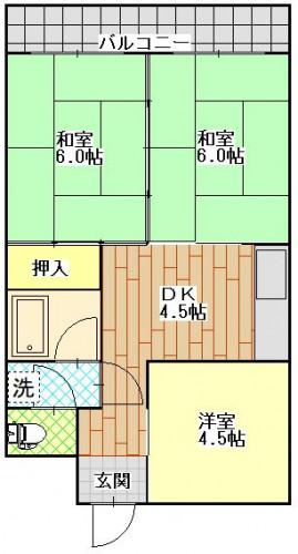 ボンヌール平野町107号室 1380万円.JPG