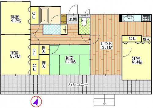 グリーンハイツ岩屋 102号室 1890万円.JPG