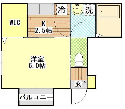 フォンティーヌ若葉102号室.JPG