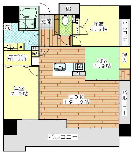 アンピール大村ステーションツリー809号室2450万円.JPG