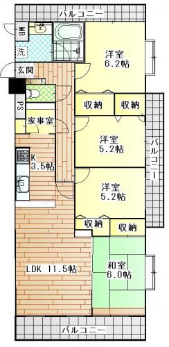 マリナシティ長崎C1408号室.JPG