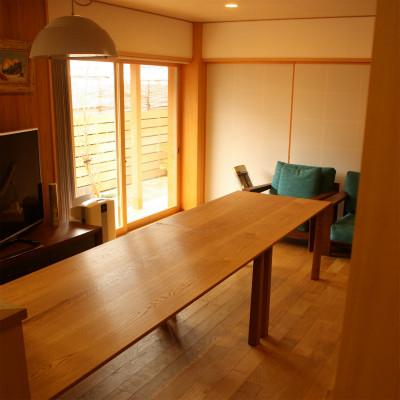 大阪N邸楢のテーブル S