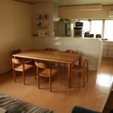 奈良県Y邸チェリー丸脚ダイニングテーブル小画像