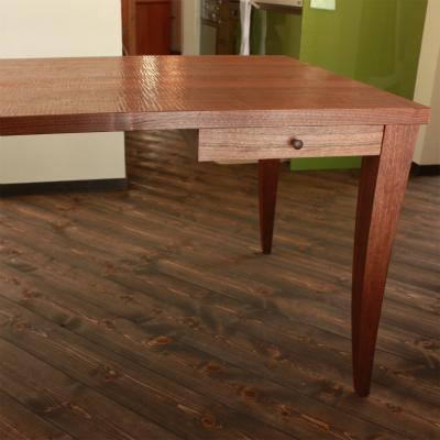 長野県 K邸 さざ波削りの引き出し付きのダイニングテーブル
