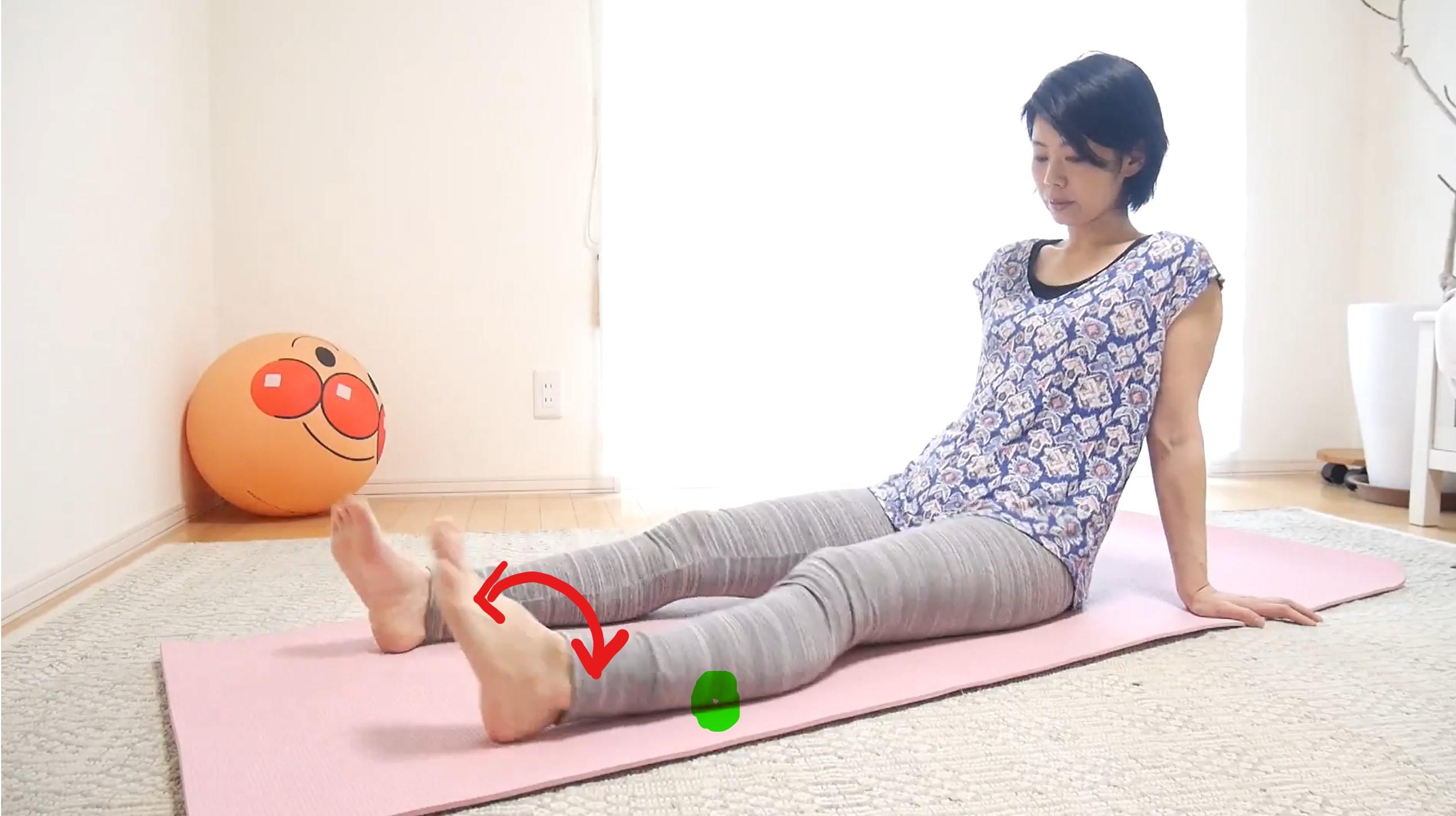 妊娠中の足のむくみ解消簡単ストレッチ③