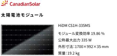 Canadian Solar 太陽光発電モジュール パワーコンディショナ