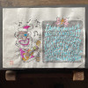 423の手刷り木版画 ☆ Blues Chrismas