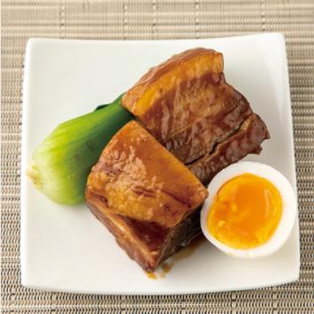半熟玉子と豚の角煮