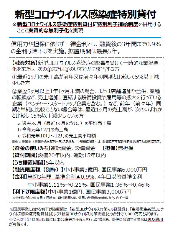 金融 コロナ 公庫 政策 日本